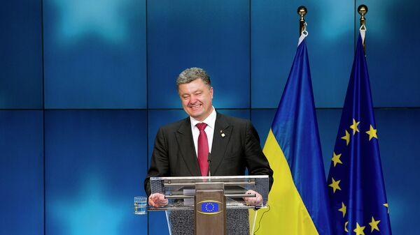 Президент Украины Петр Порошенко во время пресс-конференции в Брюсселе, Бельгия. Архивное фото.