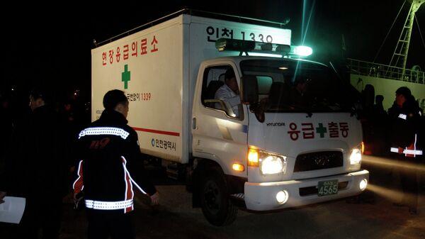 Скорая помощь и пожарные в Инчхоне, Южная Корея