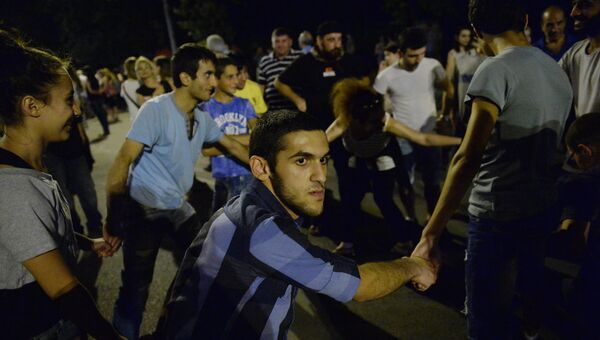 Протестные акции в Ереване. Архивное фото