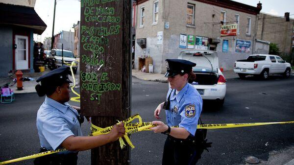 Полиция США на месте стрельбы. Архивное фото