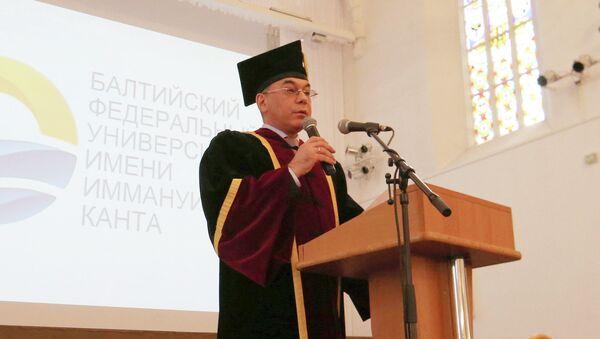 Ректор Балтийского федерального университета имени Иммануила Канта, профессор Андрей Клемешев