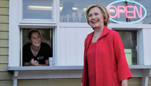 Хиллари Клинтон во время предвыборной кампании в городе Лебанон, Нью-Гэмпшир. 3 июля 2015