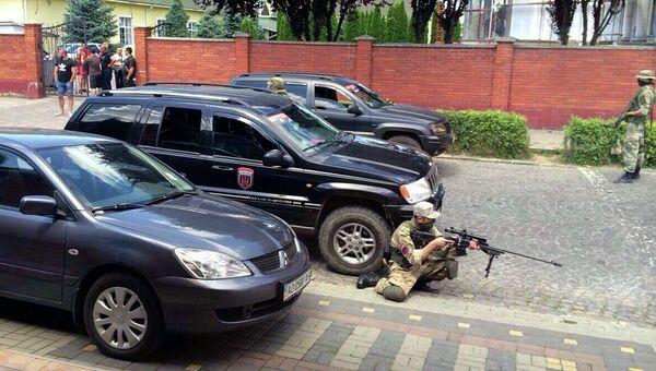 Боевик Правого сектора  в Мукачево, Украина. 11 июля 2015