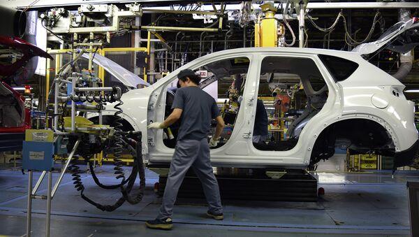 Завод Mazda Motor Corporation. Архивное фото