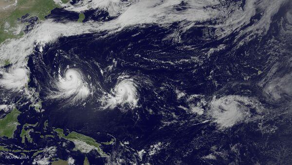 Шторм Линфа и тайфуны Чан-Хом и Нанка