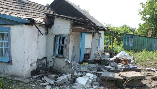 Последствия обстрелов Горловки в Донецкой области. Архивное фото