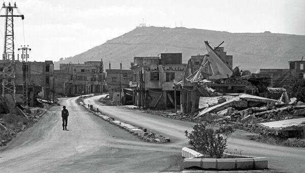 Въезд в город Эль-Кунейтру