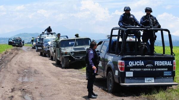 Посты полиции и армии Мексики рядом с местом побега наркобарона Гусмана. Архивное фото