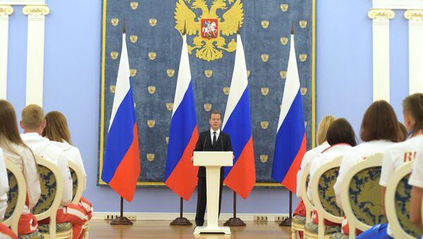 Премьер-министр РФ Д.Медведев встретился с победителями и призерами летней Универсиады-2015