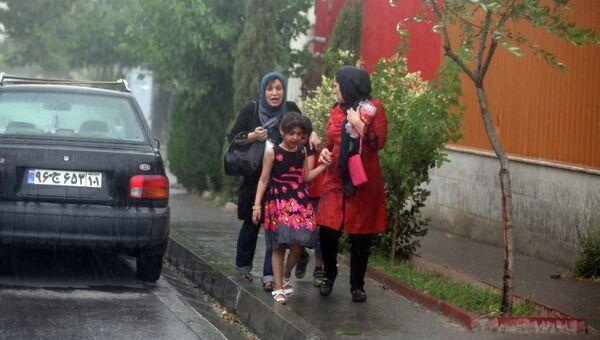 Ливневые дожди в Тегеране, Иран. Архивное фото