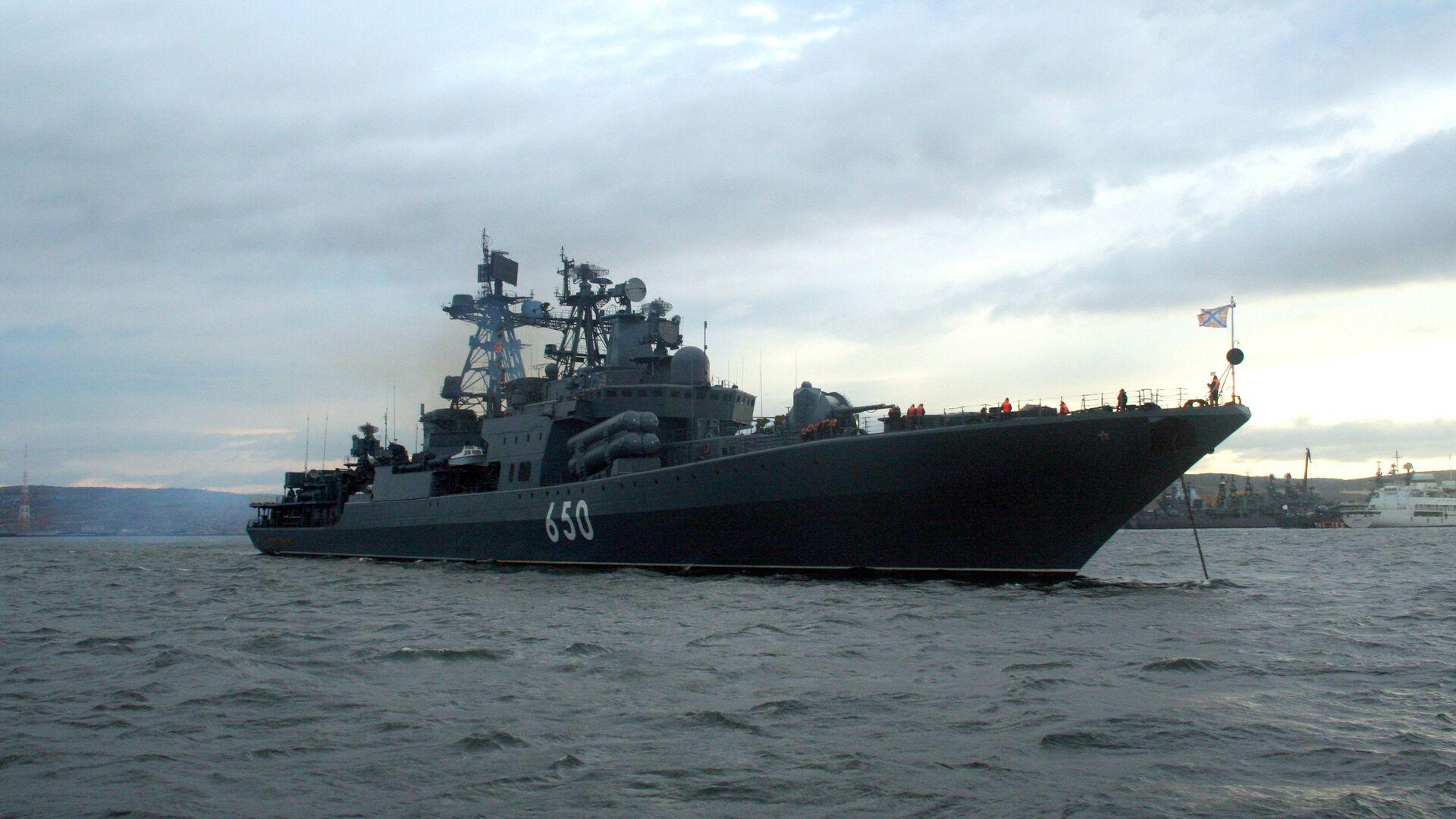 Боевой корабль Северного флота - большой противолодочный корабль (БПК) Адмирал Чабаненко - РИА Новости, 1920, 16.11.2020