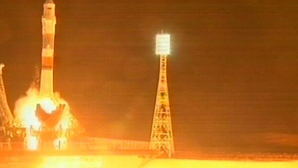 Первый пилотируемый старт к МКС после ЧП с Прогрессом. Кадры запуска Союза