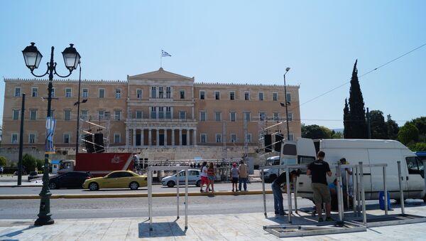 Город Афины. Греция. Архивное фото