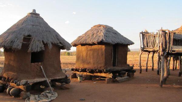 Хижины африканских племен из ЮАР