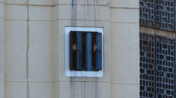 Заключенные в израильской тюрьме. Архивное фото
