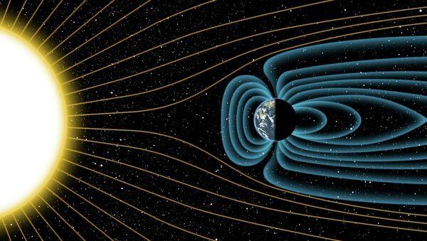 Так художник представил себе магнитное поле Земли, существовавшее с самого рождения планеты