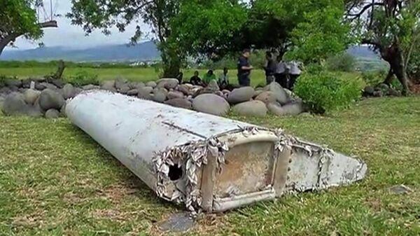 Обломки самолета, найденные в Сен-Андре, Реюньон. Стоп-кадр из видео
