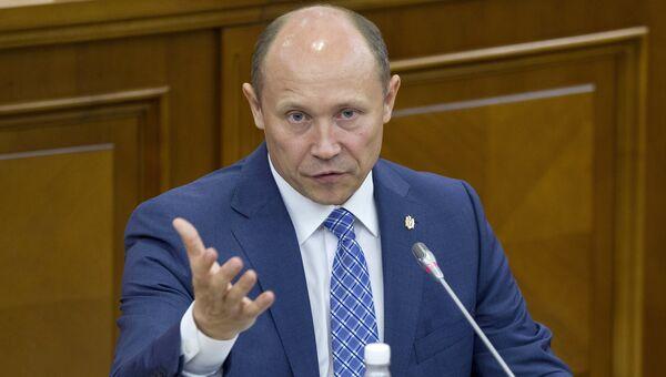 Премьер-министр Молдавии Валерий Стрелец. 30 июля 2015