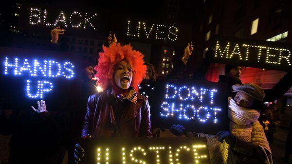 Протест в Нью Йорке, США