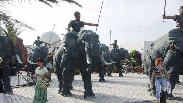 Туристическая зона в тунисском Хаммамете