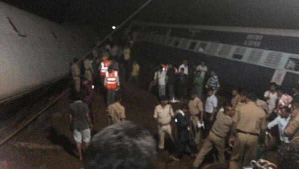 Сход поездов в индийском штате Мадхья-Прадеш