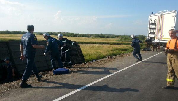 Столкновение автобусов на 125 километре трассы Хабаровск — Комсомольск-на-Амуре в районе озера Гасси. Архивное фото