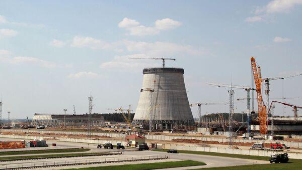 Строительство Белорусской АЭС. Архивное фото