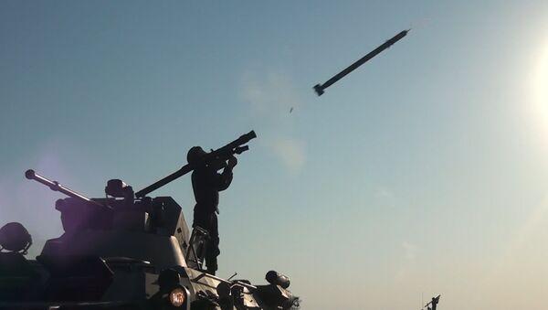 Мастера противовоздушного боя: выстрелы из ПЗРК Игла и огонь зениток