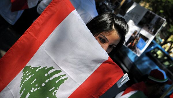 Флаг Ливана. Архивное фото
