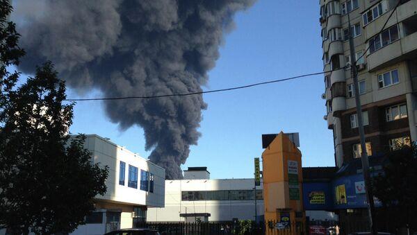 Пожар в Марьино. Архивное фото