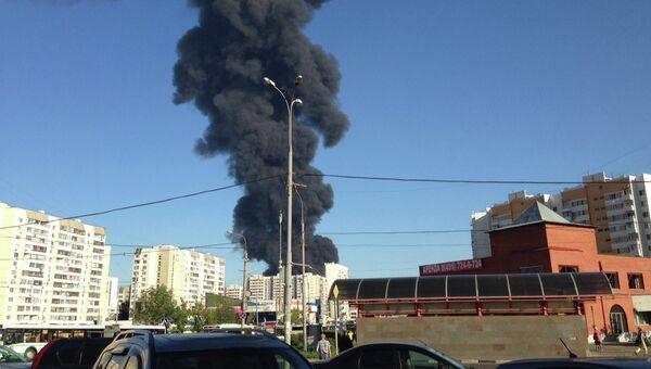 Пожар в Марьино. 12 августа 2015