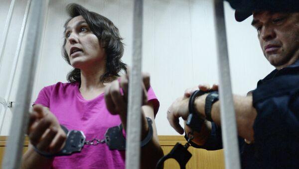 Виктория Павленко, обвиняемая в краже собаки-поводыря, в зале заседаний Гагаринского суда Москвы, который рассмотрит ходатайство следствия об ее аресте. Архивное фото