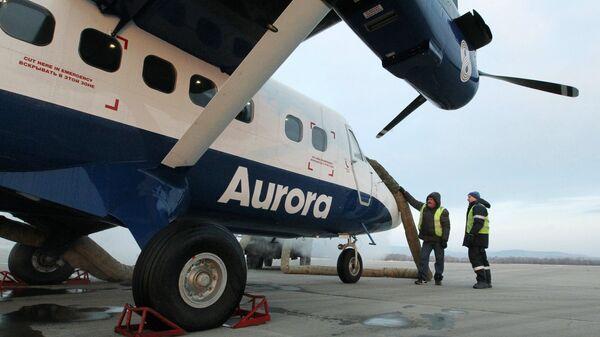 Самолет DHC-6 Twin Otter 400 авиакомпании Аврора. Архивное фото