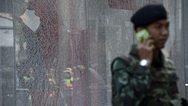 На месте взрыва в туристическом центре Бангкока. Архивное фото