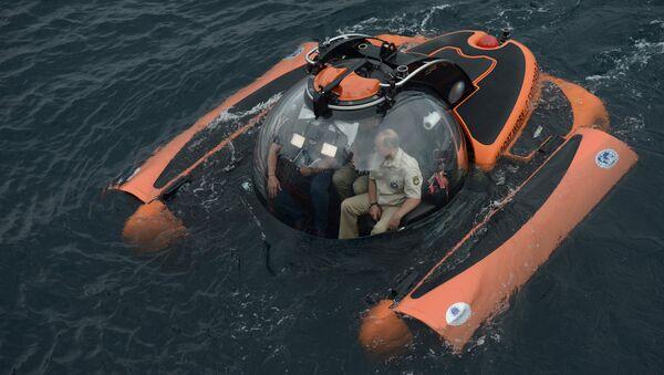 Владимир Путин совершает погружение на батискафе к затонувшему древнему судну в Крыму