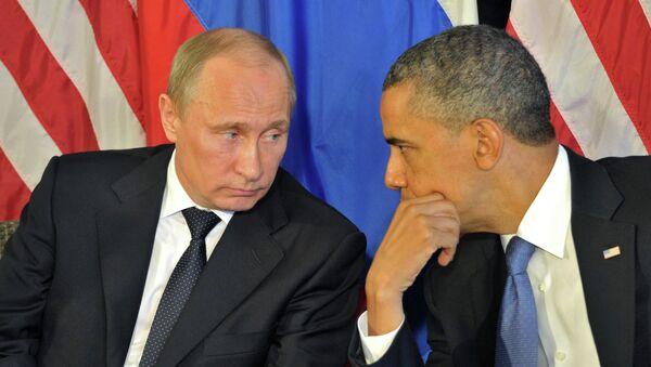 Президент России Владимир Путин и президент США Барак Обама. Архивное фото