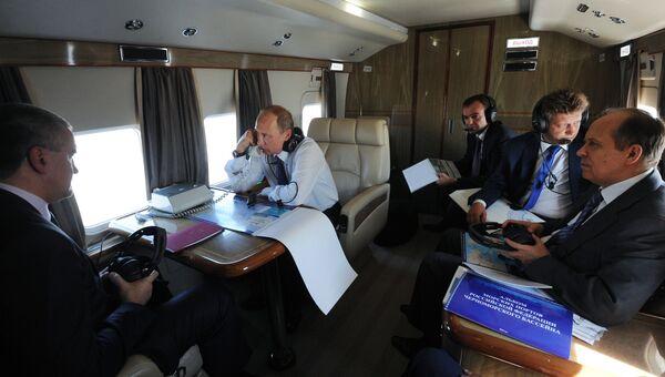 Рабочая поездка президента РФ В. Путина в Новороссийск