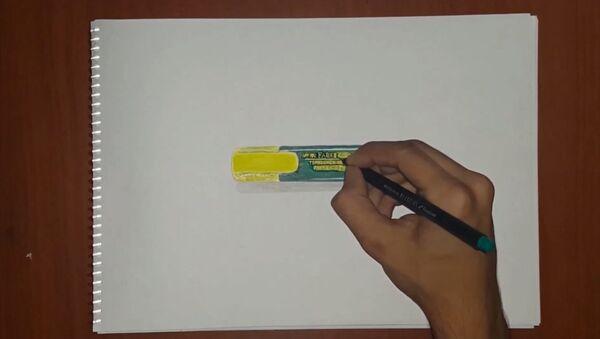 Как нарисовать маркер так, чтобы не отличить его от настоящего