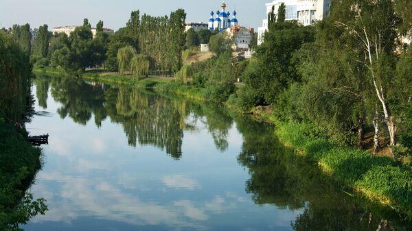 Река Цна в городе Тамбов