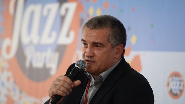 Глава Республики Крым Сергей Аксенов на пресс-конференции в рамках фестиваля Koktebel Jazz Party