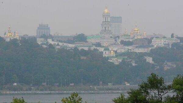 Смог от лесных пожаров в Киеве