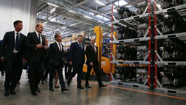 Рабочая поездка премьер-министра РФ Д.Медведева в Калужскую область