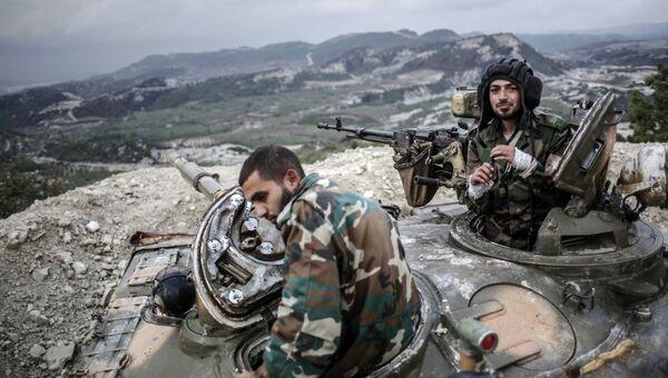 Правительственные войска сирийской армии. Архивное фото