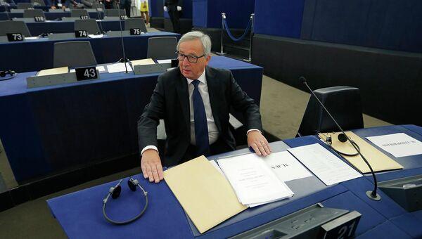 Председатель Еврокомиссии Жан-Клод Юнкер в Европарламенте. Страсбург, Франция. 9 сентября 2015