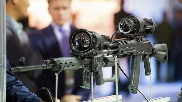 Образцы современной оружейной оптики на выставке Russia arms expo