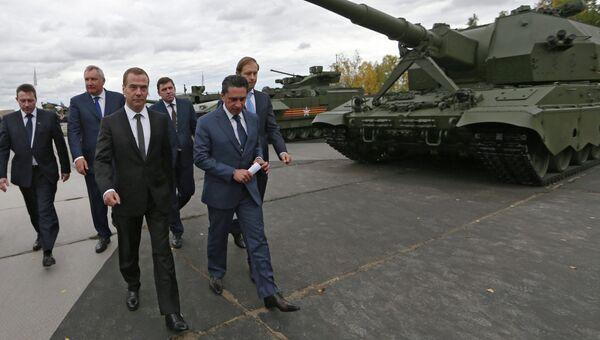 Премьер-министр РФ Д.Медведев посетил международную выставку Russia Arms Expo