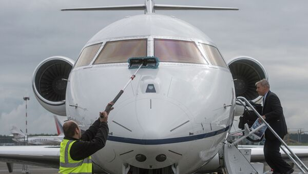 Бизнес-джет Challenger 650 компании Bombardier. Архивное фото