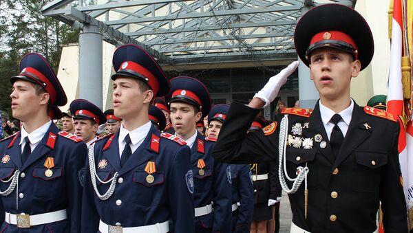 Парад кадетов Союзного Государства. Архивное фото