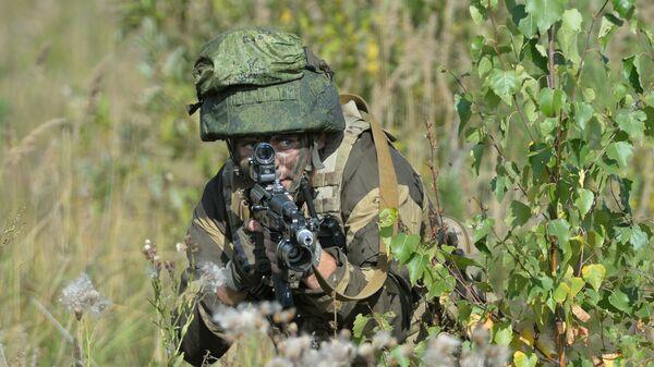 Военнослужащий на стратегических командных учениях