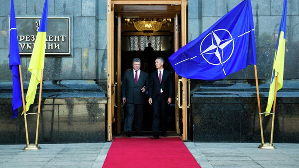 Президент Украины Петр Порошенко и генеральный секретарь НАТО Йенс Столтенберг